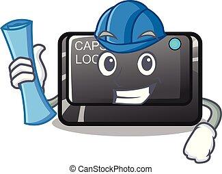 forma, architetto, bottone, carattere, capslock