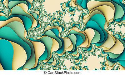 forma azul, beige, turquesa, resumen, plano de fondo