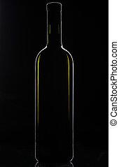 forma, botella, vino