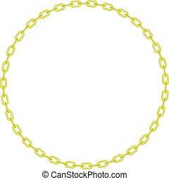 forma, círculo, amarillo, cadena