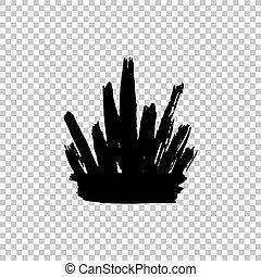 forma, colpi, corona, isolato, struttura, vernice, fondo, bianco, spesso