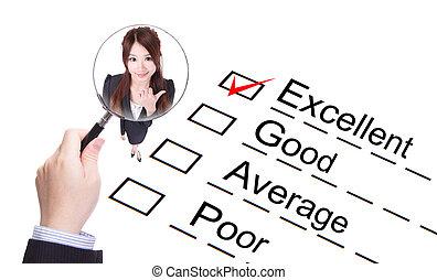 ¡!, forma, compañía, mejora, excelente, evaluación