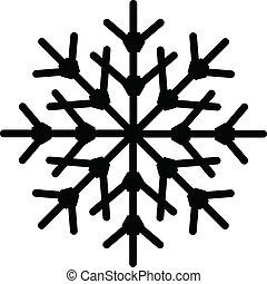 forma, copo de nieve