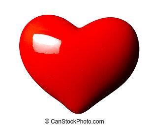 forma coração, amor, romance