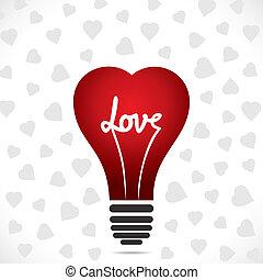 forma coração, bulbo