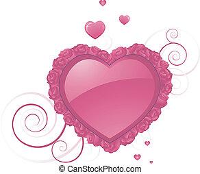 forma coração, desenho