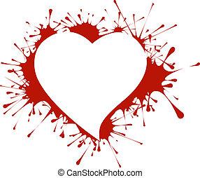 forma coração, esguichos
