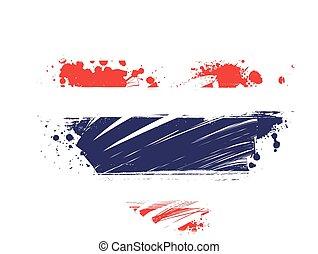 forma coração, grunge, bandeira, tailandia