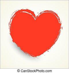 forma coração, grunge