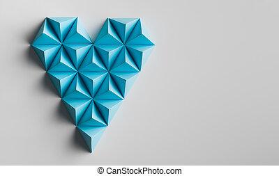 forma coração, minimalistic