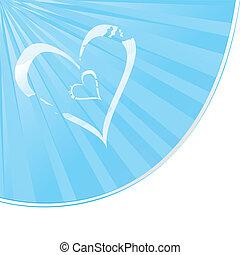 forma coração, nublado