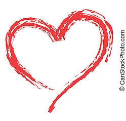 forma coração, para, amor, símbolos