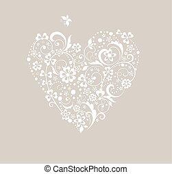 forma coração, saudação