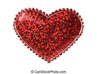 forma coração, vermelho