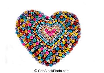 forma corazón, colorido