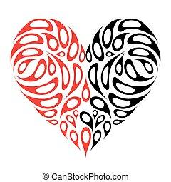 forma corazón, diseño