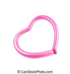forma corazón, hecho, globo
