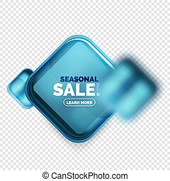 forma cuadrada, venta, botón, etiqueta, etiqueta