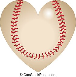 forma cuore, baseball