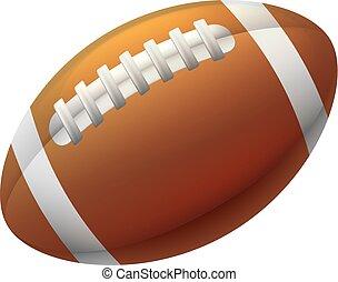 forma cuore, football, americano, palla
