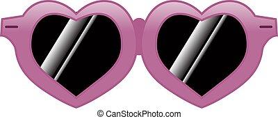 forma cuore, occhiali da sole