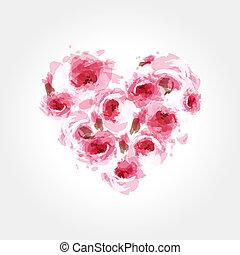 forma cuore, rose