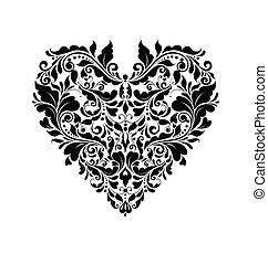 forma cuore, scheda, matrimonio