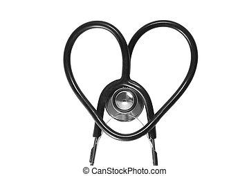 forma, cuore, stetoscopio