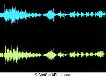 forma de onda, estéreo