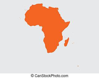 forma, di, il, continente, di, africa