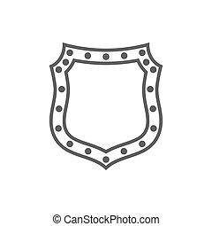 forma, emblema, escudo, ícone