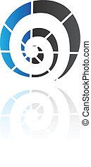 FORMA, espiral, abstratos, ícone