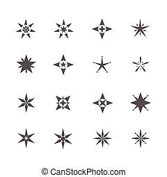 forma, estrela, ícones
