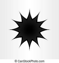 forma estrela, buraco, em, papel