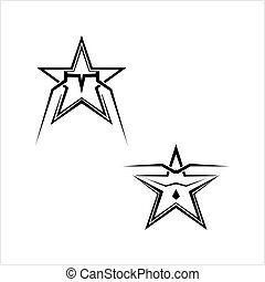 forma, estrela, desenho