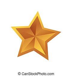 forma, estrela, símbolo