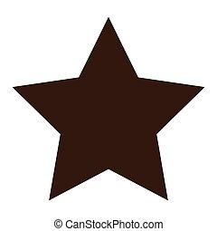 forma, estrella, icono