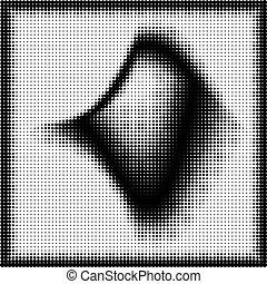 forma geométrica, halftone