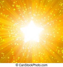 forma, illuminazione, solare, stelle