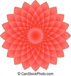forma, ilustração, arte, vermelho, 3d, flor, mandala, círculo