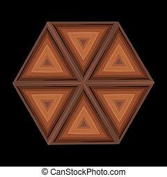 forma, motívum, geometriai, etnikai, barna, bambusz, díszítés