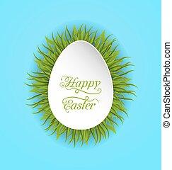 forma, Pascua, papel, verde, pasto o césped, huevo, tarjeta,...