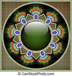forma, patrón, plano de fondo, gla, piedras, precioso