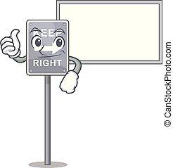 forma, pulgares, derecho, retener, tabla, mascota, arriba