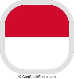 forma quadrada, bandeira, fundo, branca, ícone