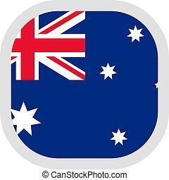 forma quadrata, bandiera, fondo, bianco, icona