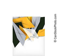 forma, resumen, empresa / negocio, geométrico, plano de ...