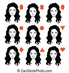 forma, tipi, faccia