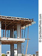 forma, trabalho, ligado, predios, construção