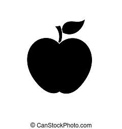 forma, vektor, jablko